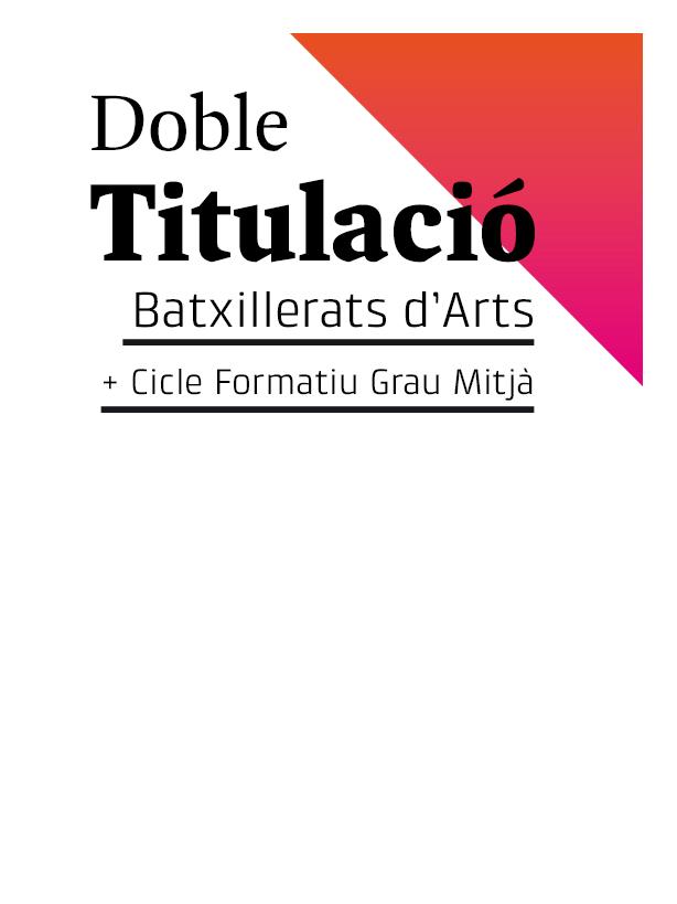 Doble Titulació / Batxillerat artístic + cicle de grau mitjà