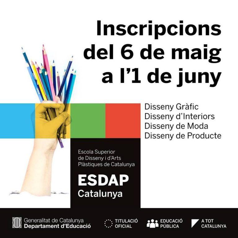 Inscripcions obertes ESDAP
