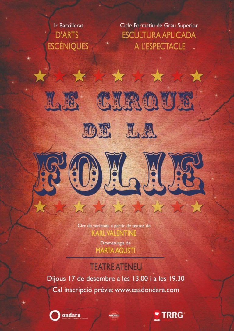 Inscriu-te gratuïtament a les obres de teatre 'The Fantasticks' i 'Le cirque de la Folie' del nostre alumnat