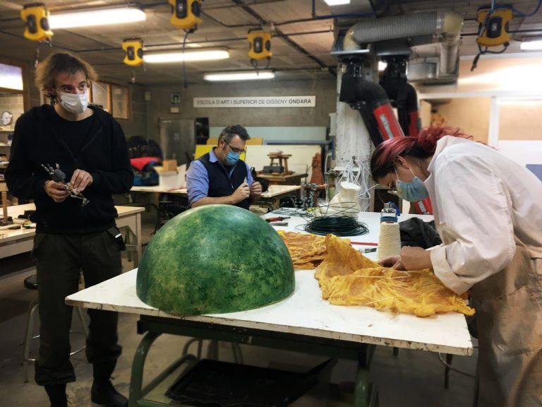 El grau superior d'Escultura Aplicada a l'Espectacle promou el treball pràctic per projectes