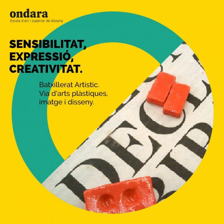 Estudia el Batxillerat d'Arts via arts plàstiques, imatge i disseny a Ondara!