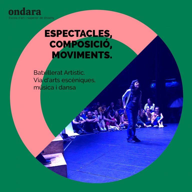 Cursa el Batxillerat d'Arts via arts escèniques, música i dansa a Ondara!